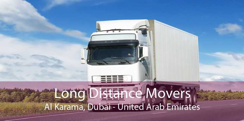 Long Distance Movers Al Karama, Dubai - United Arab Emirates